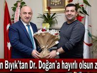 Başkan Bıyık'tan Dr. Doğan'a hayırlı olsun ziyareti