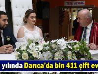 2019 yılında Darıca'da bin 411 çift evlendi