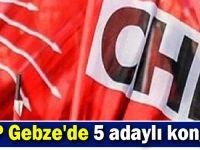 CHP Gebze'de 5 adaylı kongre!
