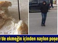 Gebze'de ekmeğin içinden naylon poşet çıktı