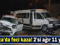 Darıca'da feci kaza! 2'si ağır 11 yaralı