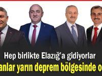 Başkanlar Elazığ'a uçuyor