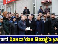 AK Parti Darıca'dan Elazığ'a yardım