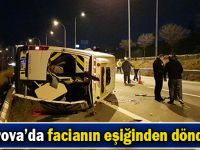 Düğünden dönenleri taşıyan minibüs devrildi: 10 yaralı