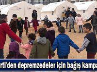 AK Parti'den depremzedeler için bağış kampanyası