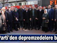 AK Parti'den depremzedelere bağış
