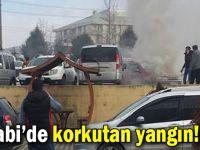 Farabi'de korkutan yangın!
