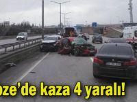 Gebze'de kaza 4 yaralı!