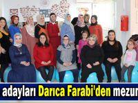 Anne adayları Darıca Farabi'den mezun oldu