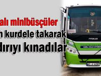 Dilovalı minibüsçülerden siyah kurdeleli kınama