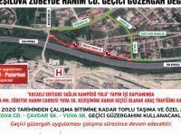Kocaeli Şehir Hastanesi yolu için geçici güzergah oluşturuldu