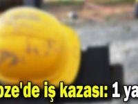 Gebze'de iş kazası: 1 yaralı
