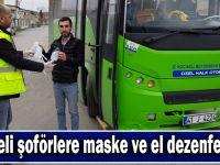 Büyükşehir, kooperatiflere el dezenfeksiyonu ve maske dağıttı