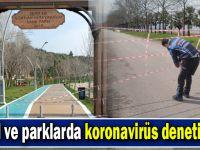 Sahil ve parklarda koronavirüs denetimleri