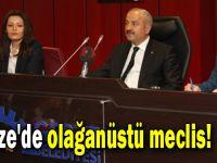 Gebze'de olağanüstü meclis!