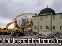 Sarıca Cami'nin yıkımına başlandı!