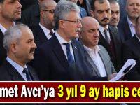 Mehmet Avcı'ya 3 yıl 9 ay hapis cezası