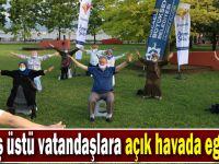 65 yaş üstü vatandaşlara açık havada egzersiz