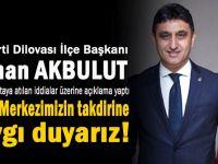 """Başkan Akbulut, """"Görevimin başındayım!"""""""