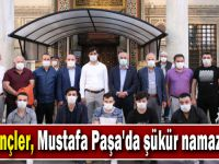 AK Gençler, Mustafa Paşa'da şükür namazı kıldı