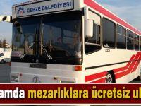 Gebze Belediyesinden vatandaşlara ücretsiz ulaşım hizmeti