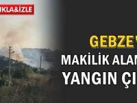 Gebze'de makilik alan yandı!