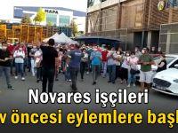 Novares işçileri grev öncesi eylemlere başladı