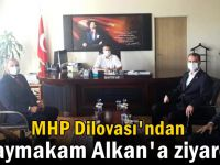 MHP'den Kaymakam Alkan'a ziyaret