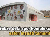 Gebze'deki spor kompleksinde salon inşaatı tamamlandı