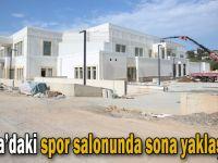 Darıca'daki spor salonunda sona yaklaşılıyor