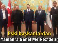 Vekil Yaman, eski başkanları ağırladı