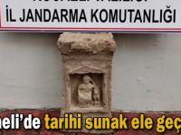 Jandarma operasyonunda tarihi sunak ele geçirildi