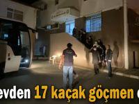 Gebze'de bir evden 17 kaçak göçmen çıktı