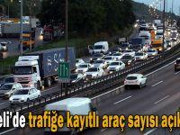 Kocaeli'de trafiğe kayıtlı araç sayısı açıklandı