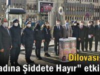 """Dilovası'nda """"Kadına şiddete hayır"""" etkinliği"""