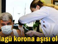 Rektör Hülagü korona aşısı oldu!