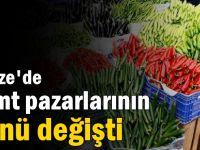 Gebze'de semt pazarlarının günü değişti