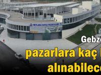 Gebze'de pazarlara kaç kişi alınabilecek?