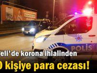 Kocaeli'de korona ihlalinden 250 kişiye para cezası!