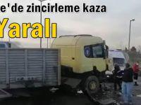 Gebze'de zincirleme kaza; 2 yaralı