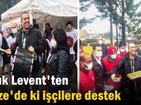 Haluk Levent'ten Gebze'de ki işçilere destek