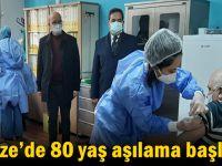 Gebze'de 80 yaş aşılama başladı!