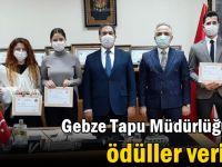 Gebze Tapu Müdürlüğü'nde ödüller verildi!