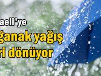Kocaeli'ye sağanak yağış geri dönüyor