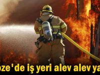 Gebze'de iş yeri alev alev yandı