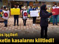 58 gündür direniyorlar: Migros işçileri marketin kasalarını kilitledi!