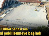 Gebze Futbol Sahası'nın zemini şekillenmeye başladı