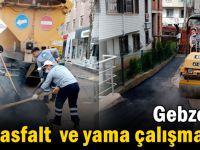 Gebze'de asfalt ,yama çalışmaları