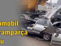 Gebze'de kaza; Araç paramparça oldu