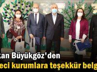 Büyükgöz'den Çevreci kurumlara teşekkür belgesi
